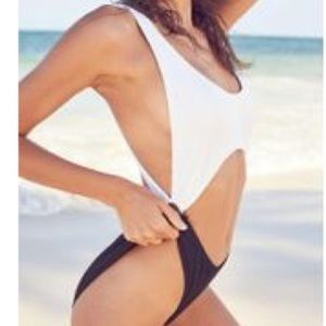 Out From Under Black & White One Piece Swimsuit